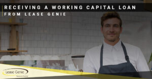 Working Capital loans from Lease Genie | Man in an apron restaurant kitchen